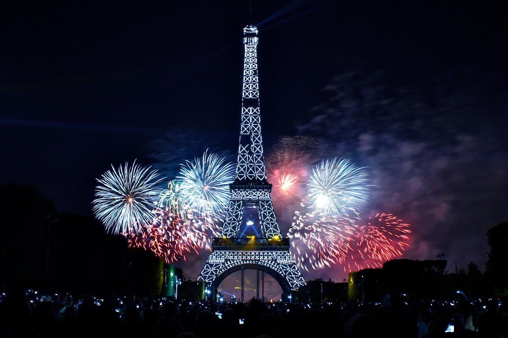 フランスパリのカウントダウン